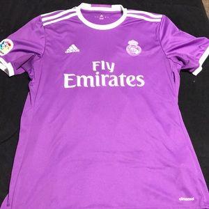 Real Madrid purple soccer jersey